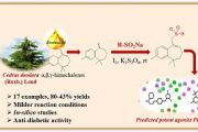 Benzosuberene-sulfone analogues synthesis from Cedrus deodara oil and their therapeutic evaluation by computational analysis to treat type 2 diabetes