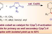 Cp*Co(III)-Catalyzed Alkylation of Primary and Secondary C(sp3)-H Bonds of 8-Alkylquinolines with Maleimides.