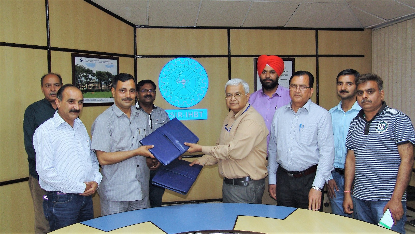 A Material Transfer Agreement (MTA) signed with M/s Madan